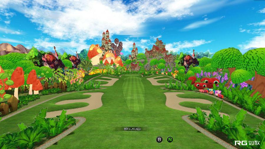 贴近童真的儿童世界,给儿童一个爱上高尔夫的理由!  如歌3D卡通球场 卡通球场 专属儿童的欢乐世界 3D儿童卡通球场,融合了动漫、田园风光、城堡等多种风格。可爱的草莓、灿烂的向日葵、可人的蘑菇、魁梧的菠萝、俏皮的西瓜象、梦幻的城堡、诱人的棒棒糖...绝对缤纷的儿童世界!如歌高尔夫地图团队别出心裁,不仅将生动、形象的水果、植物等元素融入到球场中,还将球道设计成熊猫、蝴蝶等动物的形状,挥杆3D儿童卡通球场,每一片风景都让人眼前一亮。  如歌3D卡通球场1号洞 球场是高尔夫的重要组成部分,儿童现在未必懂,但属于